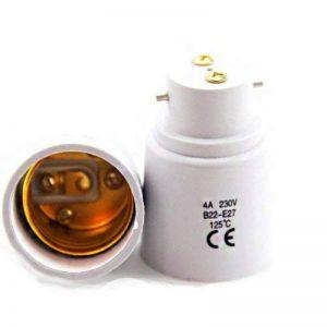 Lot de 2 - Adaptateur de Douille B22 vers E27 - Normes CE RoHS de la marque Fishtec image 0 produit