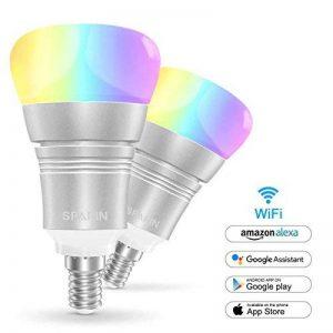 [Lot de 2] Ampoule Intelligente E14 9W, SPARIN Smart Ampoule LED E14 Couleur Wifi Ampoule Intelligente Sans-Fil Multicolore Ampoule Connecte Google Home/Amazon Alexa de la marque SPARIN image 0 produit
