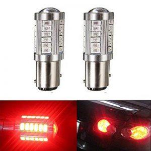 Lot de 2 ampoules LED de feux de stop arrière Katur 1157 BAY15D 5630 33-SMD - Très lumineuses - Lumière orange de 900 lumens, 8 000 °K - 12 V - 3,6 W de la marque KaTur image 0 produit