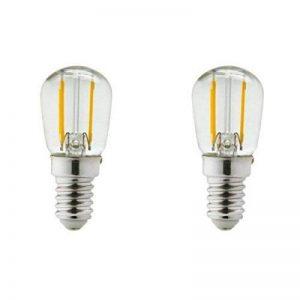 Lot de 2 ampoules led E14 1 watt (eq. 15 watt) - Frigo ou hotte - Couleur eclairage - Blanc chaud 2700°K 1200_4739 de la marque Arcotec image 0 produit