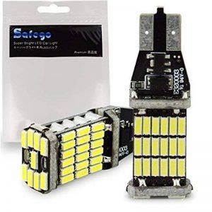 Lot de 2 Lampes Feux Recul Phare 912 921 T10 T15 W16W LED 1000 Lumens extrêmement lumineux Canbus sans erreur 4014 45-SMD Chipsets Ampoules LED pour lampes inverse sauvegarde, blanc xénon 6000 K Arrière Voiture Auto de la marque generic image 0 produit