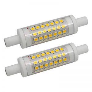 Lot de 2 R7s 6W 78mm Ampoules LED en Céramique 70xSMD2835 Blanc Chaud 3000K 480lm Non Compatible Avec Variateur D'intensité - J Type à Double Extrémité 60W R7s Halogène Ampoule de Rechange de la marque Garselis image 0 produit