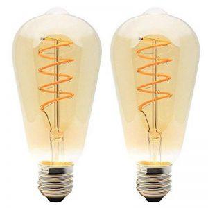 Lot de 2 Rétro Ampoule LED Dimmable E27 4W Edison Spirale Filament Lampe Luminaire Vintage Industriel 2200K 400LM de la marque ITALASA image 0 produit
