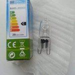 Lot de 20 ampoules G9 28W (= 40W luminosité de la marque Kosnic-Ampoule 240 V Compatible avec variateur d'intensité nominale C halogènes éco longue durée àéconomie d'énergie de fusion lampe ampoules capsules 2000 heure emballé individuellement UK stock de image 3 produit
