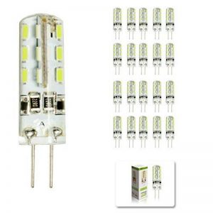 Lot de 20ampoules à LED de rechange 2W G4 pour les lampes halogènes de 15W, 180 lm, blanc froid, 6000K, MR11LED - Pour luminaires décoratifs à LED CC 12V de la marque Mengjay image 0 produit
