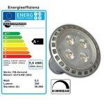 Lot de 3 ampoules à lED 5,5 w spot gU10 à intensité variable blanc chaud 3000 k ampoules ampoule à incandescence réflecteur spot se substitue aux ampoules halogènes variateur pour lampe de la marque PB-Versand image 2 produit