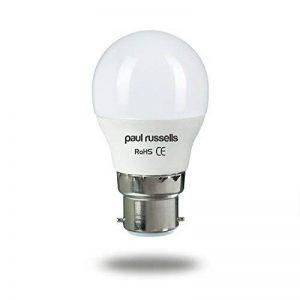 Lot de 3ampoules LED 5W Golf B22BC à baïonnette Paul Russels lumineux 5W = 40W G45Petite boule de globe 270Faisceau lampe 2700K Blanc chaud 40W Ampoule à incandescence de remplacement de la marque paul russells image 0 produit
