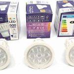 Lot de 3d'intensité variable Blanc froid GU10LED Super Bright ampoules (7W = 72W) de remplacement pour halogène Bulbs- 4000K–500lumen–90% d'économie d'énergie lamps par E3light de la marque e3Light image 3 produit
