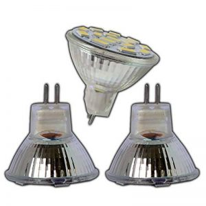 Lot de 3x ampoules spotsMR11/GU4LED 4W 12V DC avec 15SMD en verre véritable à économie d'énergie Blanc chaud Spot 120° de la marque PB-Versand image 0 produit