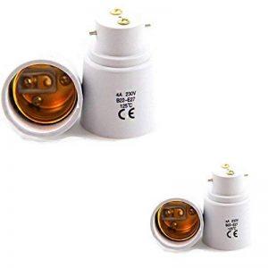 Lot de 4 - Adaptateur de Douille B22 vers E27 - Normes CE RoHS de la marque Fishtec image 0 produit