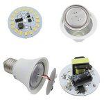 Lot de 4ampoules à incandescence, E271224V AC/DC 9W 940lumens Super Bright LED SMD, Mo ampoules halogènes équivalent, blanc froid, E27, 9.00 wattsW 24.00 voltsV de la marque ZHENMING image 4 produit