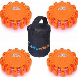 Lot de 4 feux d'avertissement avec LED ultra lumineuses et aimant étanches – Éclairage de secours pour voiture/camion de la marque Prowiste image 0 produit