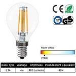 Lot de 5 Ampoule LED E14 à Filament 4W, Équivalent à 40W Ampoule Incandescente, 400 Lumen, AC 220V-240V, 2700K Blanc Chaud, E14 P45, 360°Angle d'Éclairage, Non-Dimmable, Économie d'Énergie de la marque Haian Support image 1 produit