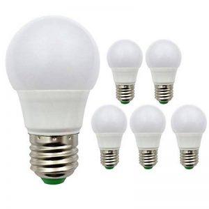 Lot de 5ampoules à incandescence, E271224V AC/DC 3W 360lumens Super Bright SMD LED, 30W ampoules halogènes équivalent, Résine, blanc chaud, E27, 3.00 wattsW 24.00 voltsV de la marque ZHENMING image 0 produit