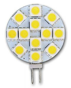 Lot de 5ampoules à LED G4 - 12 LED SMD 5050- Spot lumineux pour caravane, bateau, camping-car, cuisinière, cuisines, mobile homes de la marque GDRAVEN image 0 produit