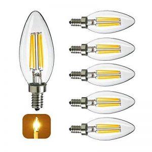 Lot de 5 E14 Incandescent Vintage Ampoule LED 4W Filament LED Retro Edison Lamp 400LM COB LED Blanc Chaud Lumière 3000k Équivalence Halogène 40W Non Dimmable AC240V de la marque Chrasy image 0 produit