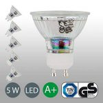 Lot de 5Lampe LED   GU10  Ampoule LED Ampoule   Ampoule 400lumens   5W remplace halogène 50W Blanc Chaud 3000K–Angle de Faisceau 36° de la marque B.K.Licht image 2 produit
