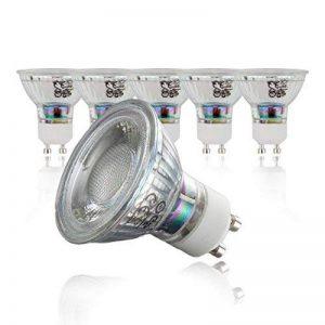 Lot de 5Lampe LED   GU10  Ampoule LED Ampoule   Ampoule 400lumens   5W remplace halogène 50W Blanc Chaud 3000K–Angle de Faisceau 36° de la marque B.K.Licht image 0 produit