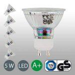 Lot de 5Lampe LED | GU10| Ampoule LED Ampoule | Ampoule 400lumens | 5W remplace halogène 50W Blanc Chaud 3000K–Angle de Faisceau 36° de la marque B.K.Licht image 2 produit