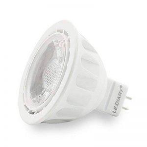Lot de 6ampoule LED MR165W GU5.3spot pour chambre à coucher, cuisine, salon de plafond, suivi d'éclairage, Blanc chaud 3000K, 100–240V, 470lm, blanc chaud, GU53-100240-W 5.00 wattsW de la marque LEDIARY image 0 produit