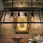 Lot de 6 ampoules Edison vintages E27 - 60W - À filament - 220V - Blanc chaud - Transparentes -À suspendre, St64/60w, E27 60.0W de la marque Solobay image 4 produit