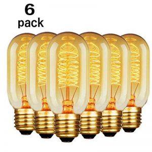 Lot de 6 ampoules Edison vintages E27 - 60W - À filament - 220V - Blanc chaud - Transparentes -À suspendre, T45/60w, E27 60.0W de la marque Solobay image 0 produit