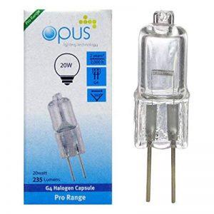 Lot de 6 ampoules Halogènes G4 12v 20w de la marque Opus Lighting Technology image 0 produit