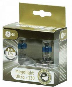 Lot de deux ampoules Halogènes de marque General Electric, modèle H4 megalight ultra de la marque GE image 0 produit