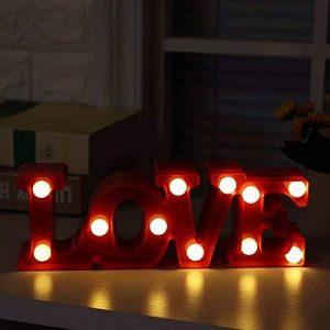 """'""""LOVE sont suspendre Veilleuse Décorative upxiang romantique Alphabet Lettres Lumières Lampes LED à économie d'énergie LED Veilleuse de la marque Upxiang image 0 produit"""