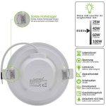 Lumare LED Spot à Encastrer Extra Plat 6W 450lumen 230V IP44 Blanc chaud pour salle de bain et salon Spot rond pièce de bain avec 6 pièce de la marque Lumare image 2 produit