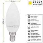 Lumaro LED bougie 5 pièce | E14 5W | Remplace la lampe 40w | Ampoule 410 lumen | 2700 Kelvin | C35 Source lumineuse blanc chaud de la marque Lumaro image 4 produit