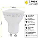 Lumaro LED Spot 5 pièce | GU10 3.5W | Remplace la lampe 35W | 320 Lumen | 2700 Kelvin | Lampe de remplacement de lampe à économie d'énergie blanc chaud [classe d'énergie A ++] de la marque Lumaro image 4 produit