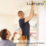 Lumaro® Slim Line spot encastrable IP44 rond avec seulement une profondeur d'installation de 27 mm! | avec 6 pièce spot de plafond avec intégration remplaçable 4W 400 lumens ampoules LED AC 230V 120° blanc chaud de la marque Lumaro image 4 produit