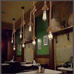 Luminaire Suspensions corde de chanvre au style vintage 220V 100CM (50CM+50CM), culot E27 (sans ampoule) pour le salon, le bar, les espaces publics de la marque Maxsal image 4 produit