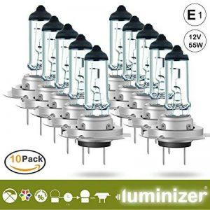 Luminizer® Ampoules de Phare Avant Lampe H7 Lumière Lampes De Voiture Super Brillant PX26d 10 x H7 12 V 55 W Ampoules Halogènes avec marque de contrôle E1 PX26D de la marque Luminizer image 0 produit