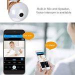 Lumière d'ampoule d'appareil-photo d'or LED, application mobile 360 Wifi Mobile App V380 pour le contrôler, 1080P 360 ° Grand angle Fisheye Panoramique, audio bidirectionnel, ajuster la longueur et l'angle, vision nocturne, pour la sécurité à la maison image 1 produit