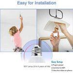 Lumière d'ampoule d'appareil-photo d'or LED, application mobile 360 Wifi Mobile App V380 pour le contrôler, 1080P 360 ° Grand angle Fisheye Panoramique, audio bidirectionnel, ajuster la longueur et l'angle, vision nocturne, pour la sécurité à la maison image 4 produit