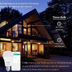 Lumière intelligente de la couleur LED d'ampoule de 9W Wifi, fonctionne avec Alexa et la maison de Google, fonction de synchronisation, à distance commandée par des dispositifs, teinte de LED, aucun hub requis (Blanche chaude) de la marque MagicLux Tech image 3 produit