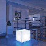Lumisky 303114 Contemporain Cube Luminex avec Ampoule à Economie d'Energie E27 Fournie Polyéthylène Epais Blanc 40 x 40 x 40 cm de la marque LUMISKY image 2 produit