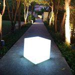 Lumisky 303114 Contemporain Cube Luminex avec Ampoule à Economie d'Energie E27 Fournie Polyéthylène Epais Blanc 40 x 40 x 40 cm de la marque LUMISKY image 4 produit