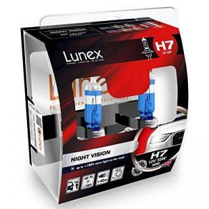 LUNEX H7 NIGHT VISION Ampoules Halogenes Phare Blanche 477 12V 55W PX26d 3600K duobox (2 pieces) de la marque Lunex image 0 produit