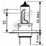 LUNEX H7 NIGHT VISION Ampoules Halogenes Phare Blanche 477 12V 55W PX26d 3600K duobox (2 pieces) de la marque Lunex image 1 produit