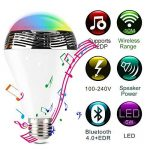 Lunvon Ampoule LED Bluetooth sans Fil Smart avec Haute Parleur 7 Couleurs Support Apple Android APP Contrôlé de la marque image 1 produit