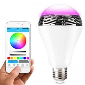 Lunvon Ampoule LED Bluetooth sans Fil Smart avec Haute Parleur 7 Couleurs Support Apple Android APP Contrôlé de la marque Lunvon image 0 produit