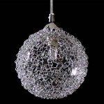 [lux.pro] plafonnier en forme de sphère en fil d'aluminium (6 x socles G9)(48,0 cm x 28,0 cm x 100,0 cm) lampe à suspension 6 flammes luminaire suspendu de la marque lux.pro image 3 produit