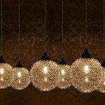 [lux.pro] plafonnier en forme de sphère en fil d'aluminium (6 x socles G9)(48,0 cm x 28,0 cm x 100,0 cm) lampe à suspension 6 flammes luminaire suspendu de la marque lux.pro image 2 produit