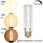 LuxVista 2-pcs 10W E27 T10 LED Ampoule tubulaire à Maïs avec 3 modes, 750 Lumens, remplacement de l'ampoule Halogène 75W (2800k Blanc chaud) de la marque Luxvista image 2 produit