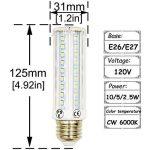 LuxVista 2-pcs 10W E27 T10 LED Ampoule tubulaire à Maïs avec 3 modes, 750 Lumens, remplacement de l'ampoule Halogène 75W (2800k Blanc chaud) de la marque Luxvista image 1 produit