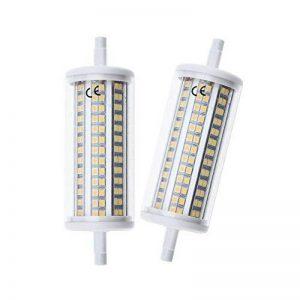 LuxVista 2-pcs 10W R7S 118MM 220V LED Ampoule à Maïs Blanc froid 6000K avec 1000 Lumens 200 Degrés Faible consommation, longue durée de la marque Luxvista image 0 produit