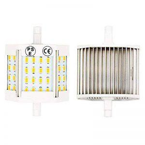 LuxVista 2-pcs 10W R7S J78 T3 78MM Haute luminosité 5730 Ampoule SMD LED, 1100 Lumens, remplacement 100W Halogène Ampoule(3000k Blanc chaud) de la marque Luxvista image 0 produit